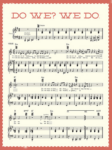 """Do We? We Do"" sheet music"